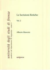 Le Iscrizioni Retiche Volume 2