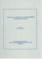 Una teoria e un modello per l'analisi quantificata dell'italiano substandard